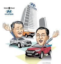 Hyundai Motor Company Founders Chung Ju-yung and Se-yung