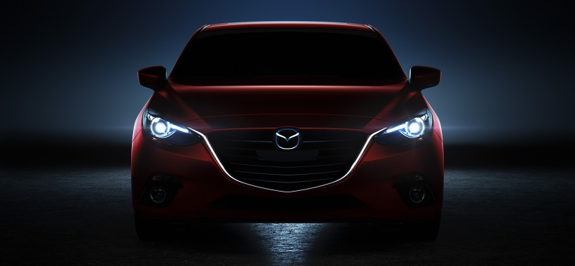 2014 Mazda3 headlight night - Destination Mazda Vancouver