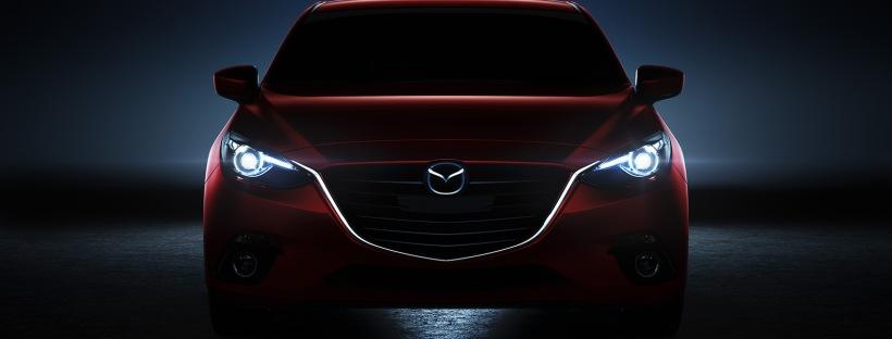 2014 Mazda3 headlight night - Destination Mazda Vancouver