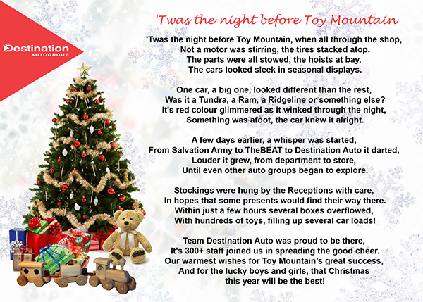 Twas the Night before Toy Mountain…